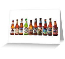 Beer Bottle collection Greeting Card