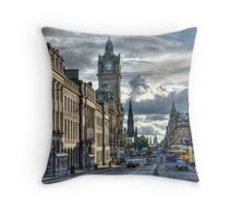 Edinburgh Streets Throw Pillow
