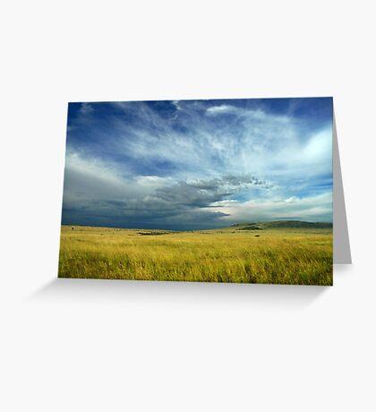Masai Mara storm Greeting Card