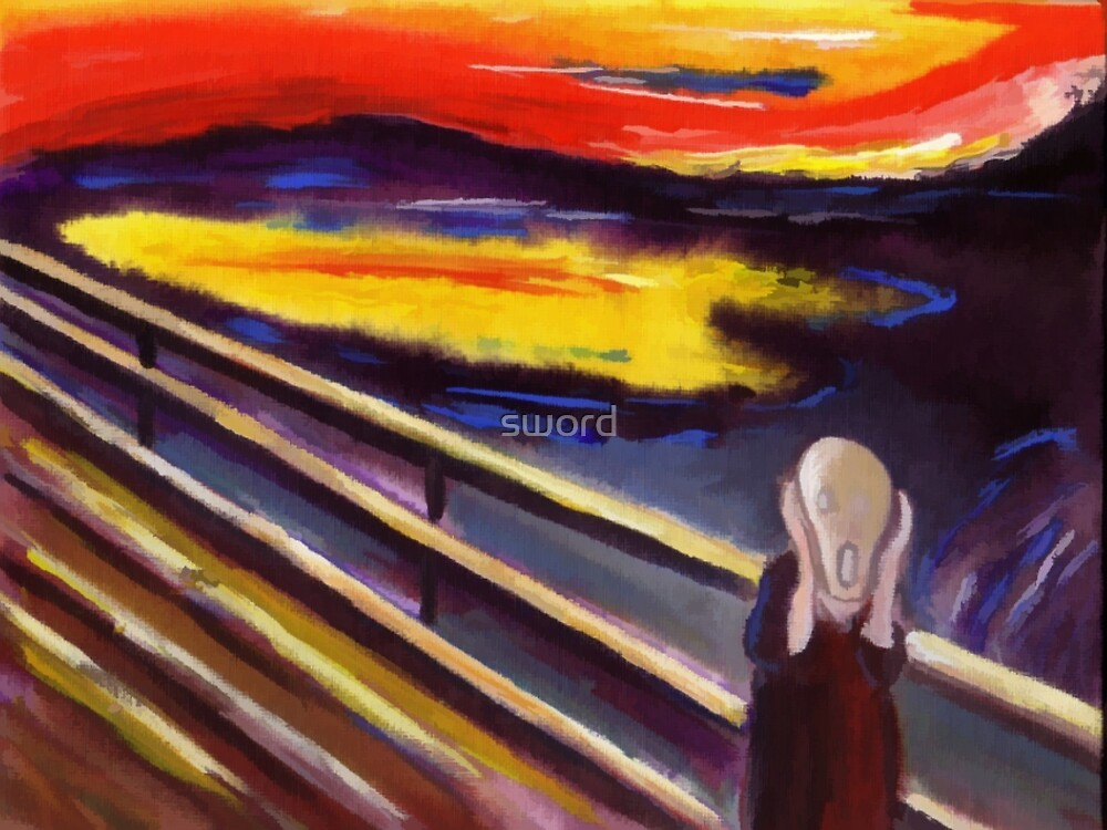 The scream (from my original acrylic digitally enhanced) by sword