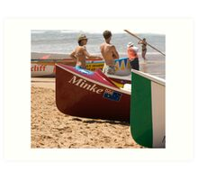 Surfboat Saturday Art Print