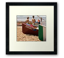 Surfboat Saturday Framed Print