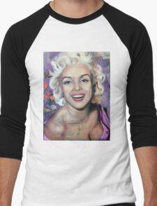 Alive (Marilyn Monroe) Men's Baseball ¾ T-Shirt