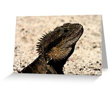 Bearded Dragon Indian Ink Greeting Card
