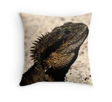 Bearded Dragon Indian Ink Throw Pillow