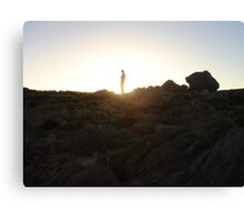 ALEX G ROCKYSURFSUNSET SILO Canvas Print