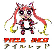 Tail Red Powerpuff Photographic Print