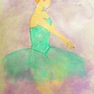 Ballerina Dancing in the Mist by Alison Pearce