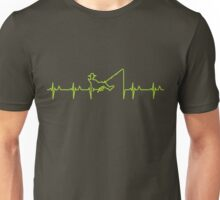 My heart beats for fishing (green) VRS2 Unisex T-Shirt