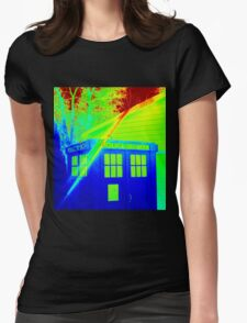 T.A.R.D.I.S. Rainbow Womens Fitted T-Shirt