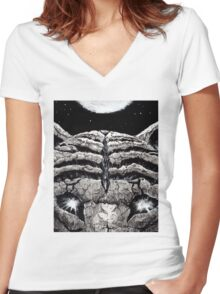 Fearful Symmetry Women's Fitted V-Neck T-Shirt