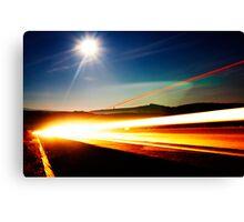 Moonlight Highway Canvas Print