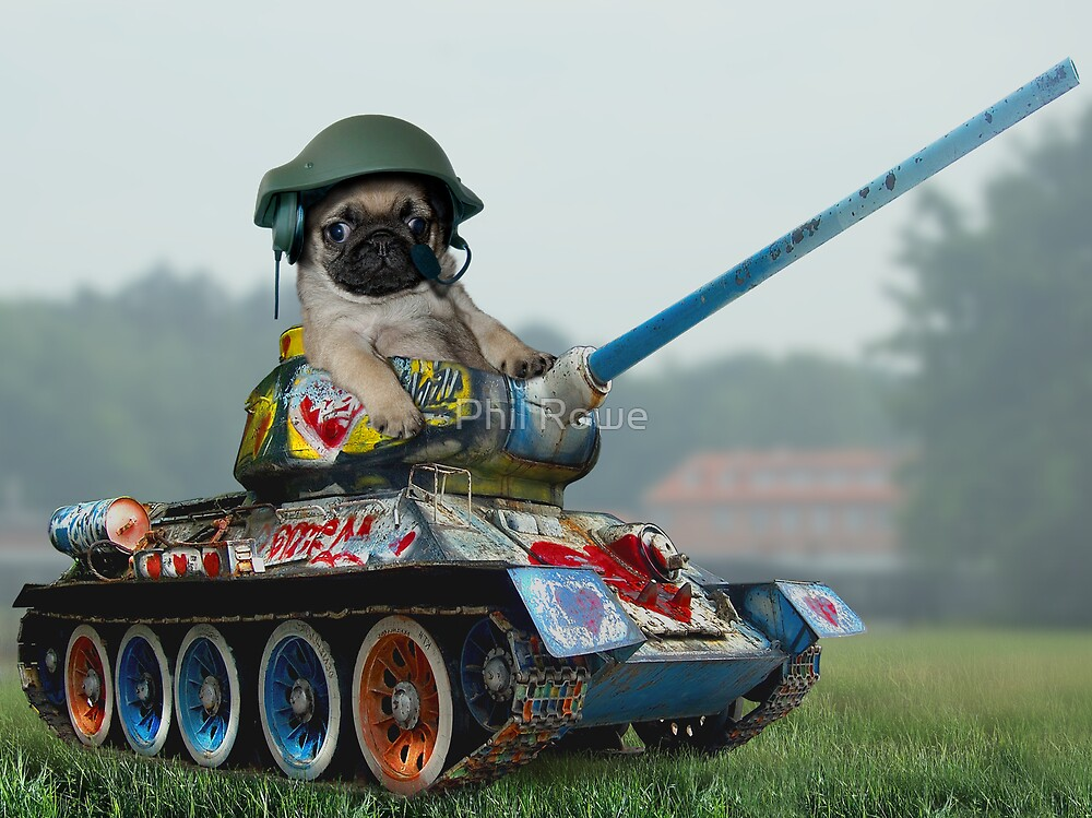 Tank Pug by Phil Rowe
