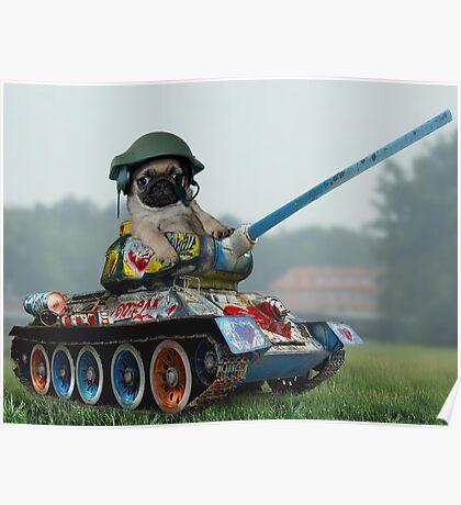 Tank Pug Poster