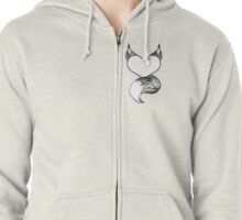 Furry at Heart (White) Zipped Hoodie