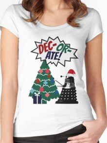 DEC-OR-ATE! Dalek Christmas Women's Fitted Scoop T-Shirt