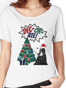 DEC-OR-ATE! Dalek Christmas Women's Relaxed Fit T-Shirt