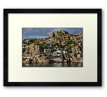 Clinging to the Rock Framed Print