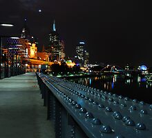 Back at the yarra river foot bridge  by Nicole Goggins