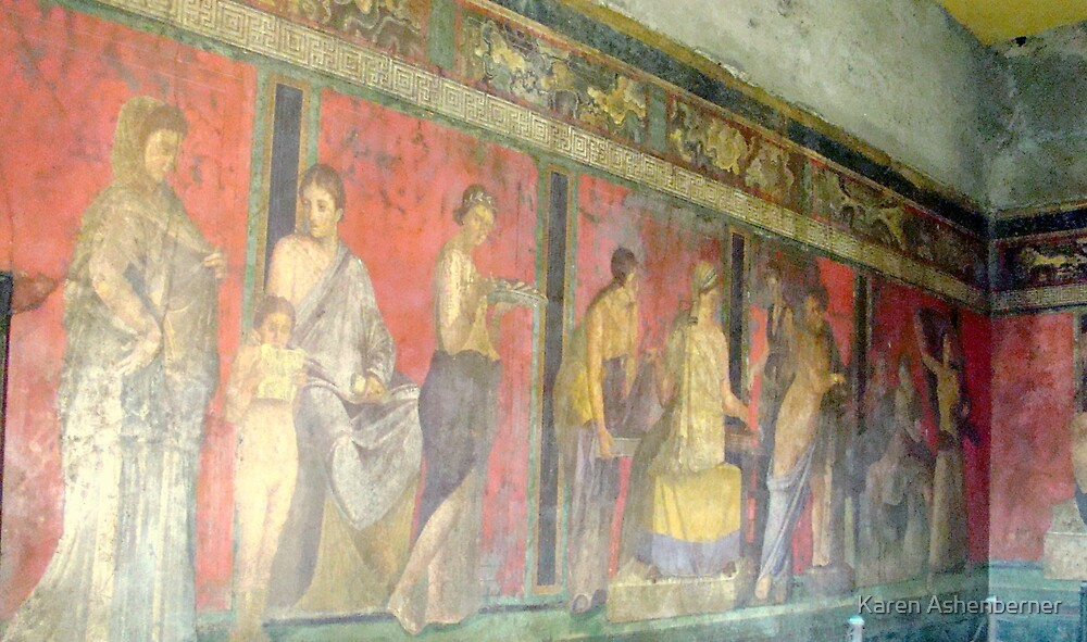 Pompeii Fresco by Karen Ashenberner
