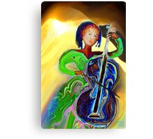 The Passionate  Cello Player Canvas Print
