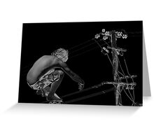 High wire Greeting Card