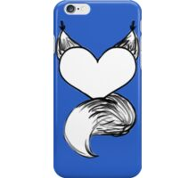 Furry at Heart (Blue) iPhone Case/Skin