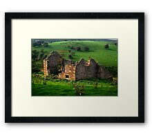 Roofless Cottage Framed Print