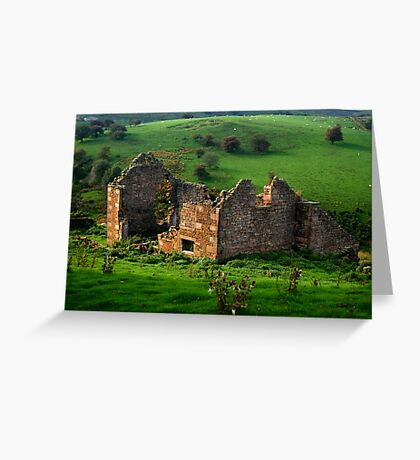 Roofless Cottage Greeting Card
