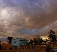 Dusk in suburbia by Cathleen Tarawhiti