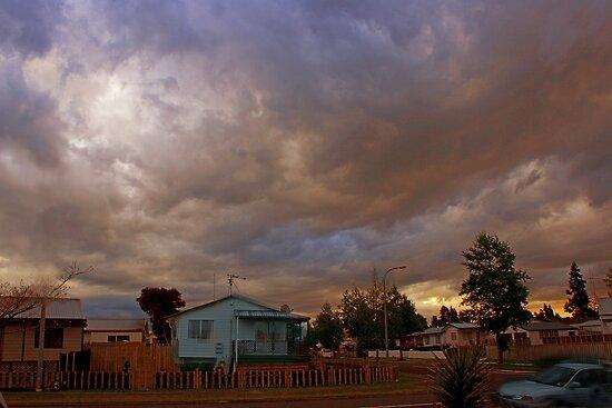 Dusk in suburbia by Cathleen Tarawhiti