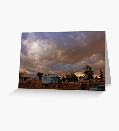 Dusk in suburbia Greeting Card