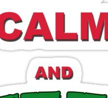 Keep Calm and Pizza Me Sticker Sticker