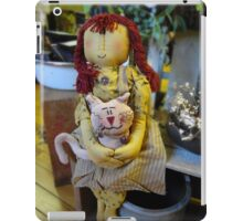 Girl doll and her cat iPad Case/Skin