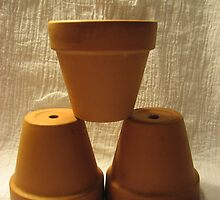 Clay pots by Farrah Garland