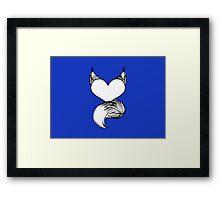 Furry at Heart (Dark Blue) Framed Print
