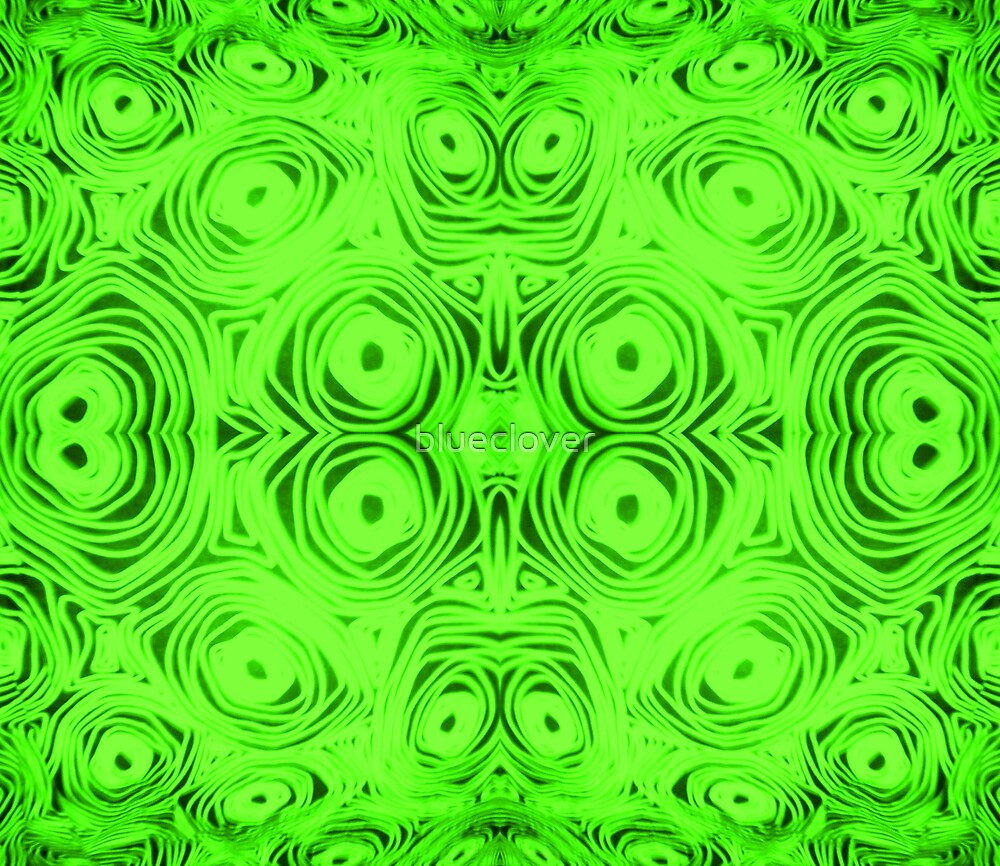 Green Swirls and Circles by blueclover