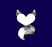 Furry at Heart (Navy Blue) by katieblueeyes