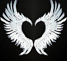 Angel wings heart by atlasartsn