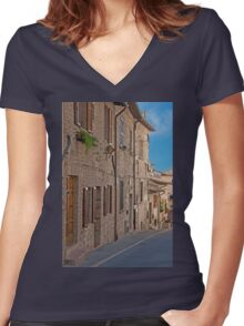 Quiet Incline Women's Fitted V-Neck T-Shirt