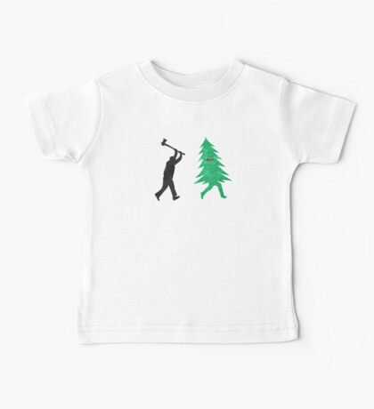 Funny Cartoon Christmas tree is chased by Lumberjack / Run Forrest, Run! Kids Clothes