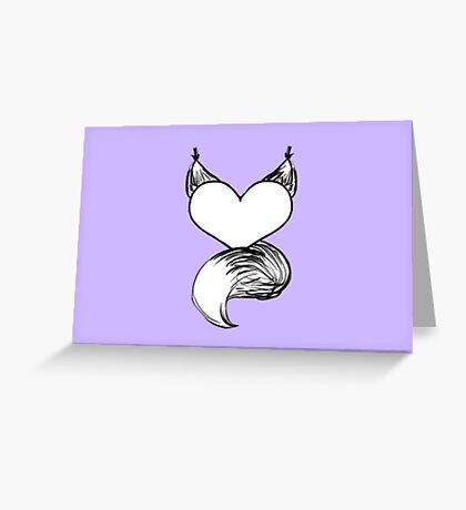 Furry at Heart (Lilac) Greeting Card