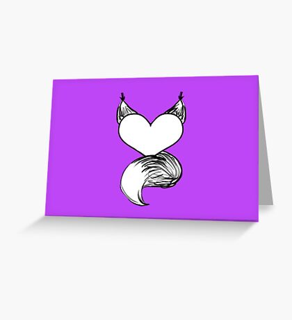 Furry at Heart (Orchid) Greeting Card