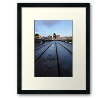 Vancouver - Granville Island Pier Framed Print