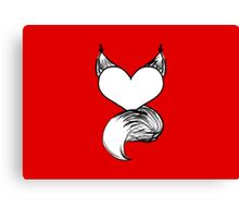 Furry at Heart (Red) Canvas Print