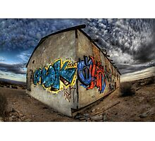 Desert Graffiti Photographic Print
