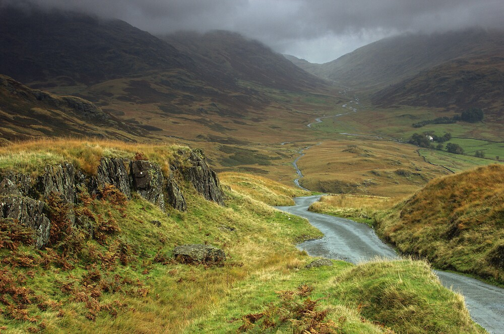 Hard Knott Pass by Glen Birkbeck