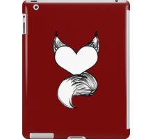 Furry at Heart (Dark Red) iPad Case/Skin