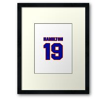 National football player Remy Hamilton jersey 19 Framed Print