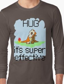 Hug is Super Effective Long Sleeve T-Shirt
